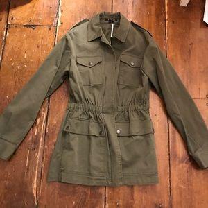 Theory green utility jacket